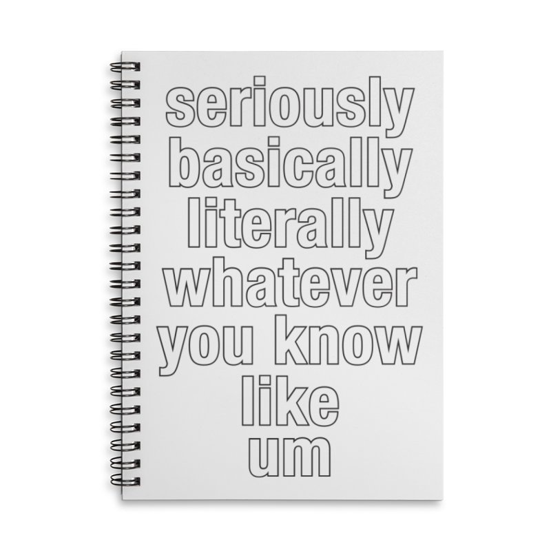 Overused_Words_2 Accessories Lined Spiral Notebook by Brian Harms