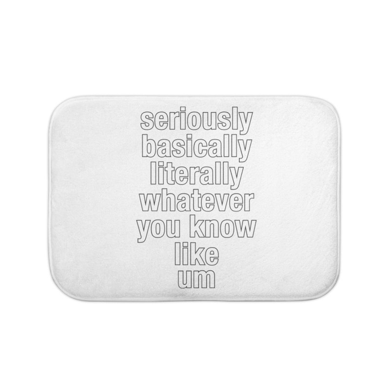 Overused_Words_2 Home Bath Mat by Brian Harms
