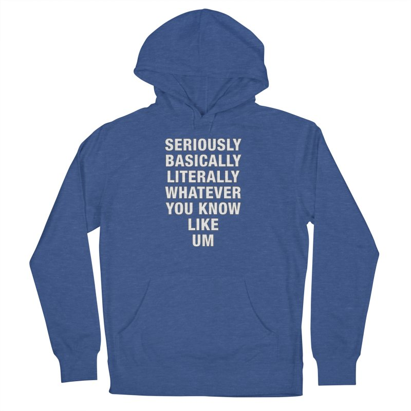 Overused_Words_1 Men's French Terry Pullover Hoody by Brian Harms