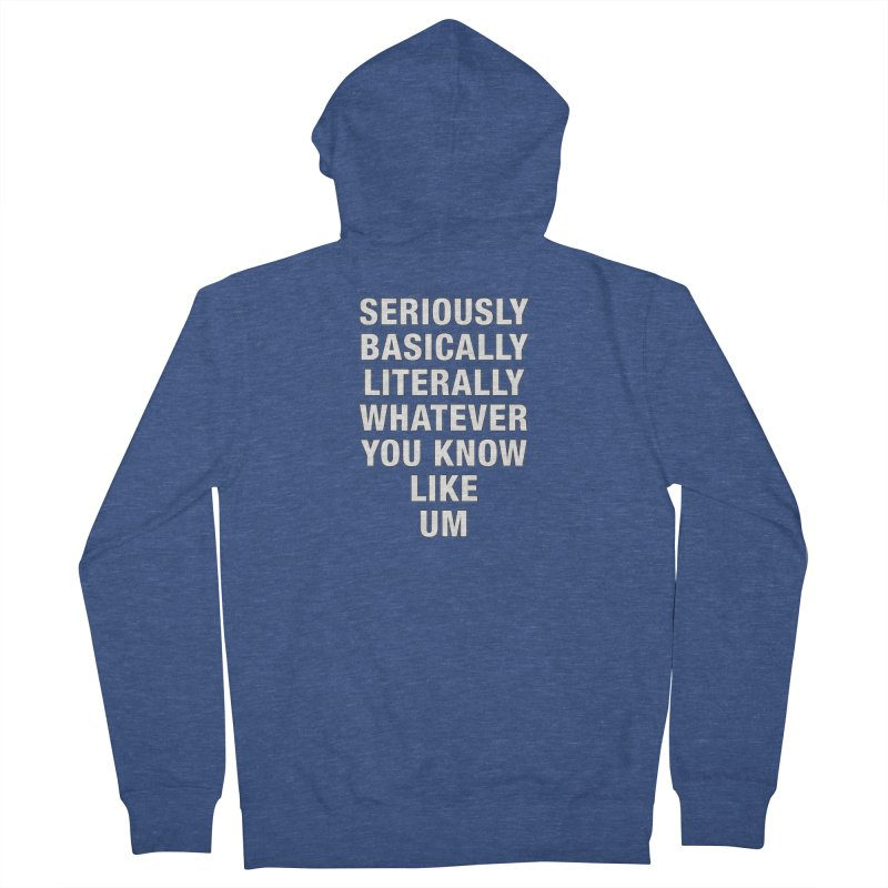 Overused_Words_1 Men's French Terry Zip-Up Hoody by Brian Harms