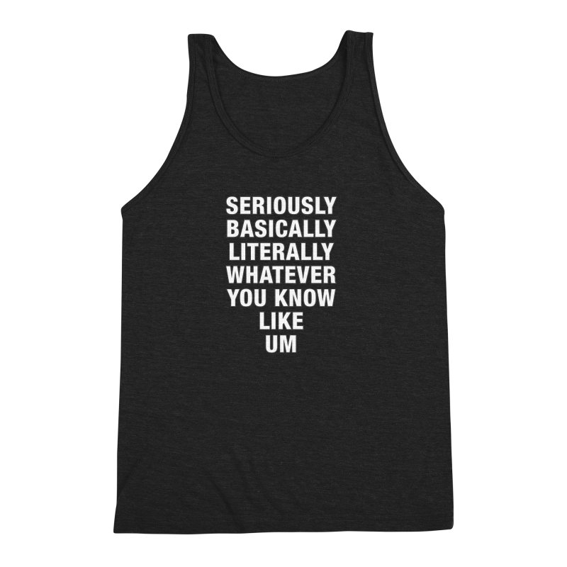 Overused_Words_1 Men's Triblend Tank by Brian Harms