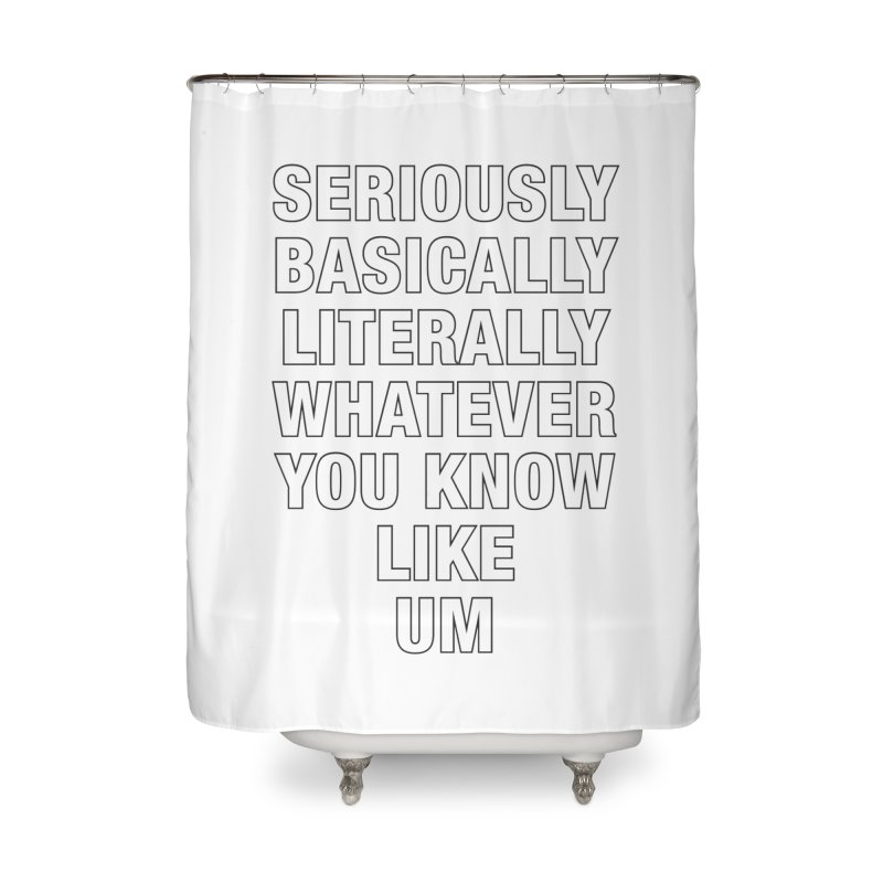 Overused_Words_1 Home Shower Curtain by Brian Harms