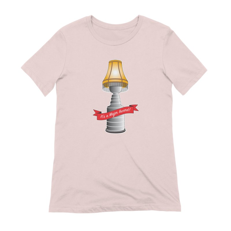 Lamp Award in Women's Extra Soft T-Shirt Soft Pink by Brian Harms