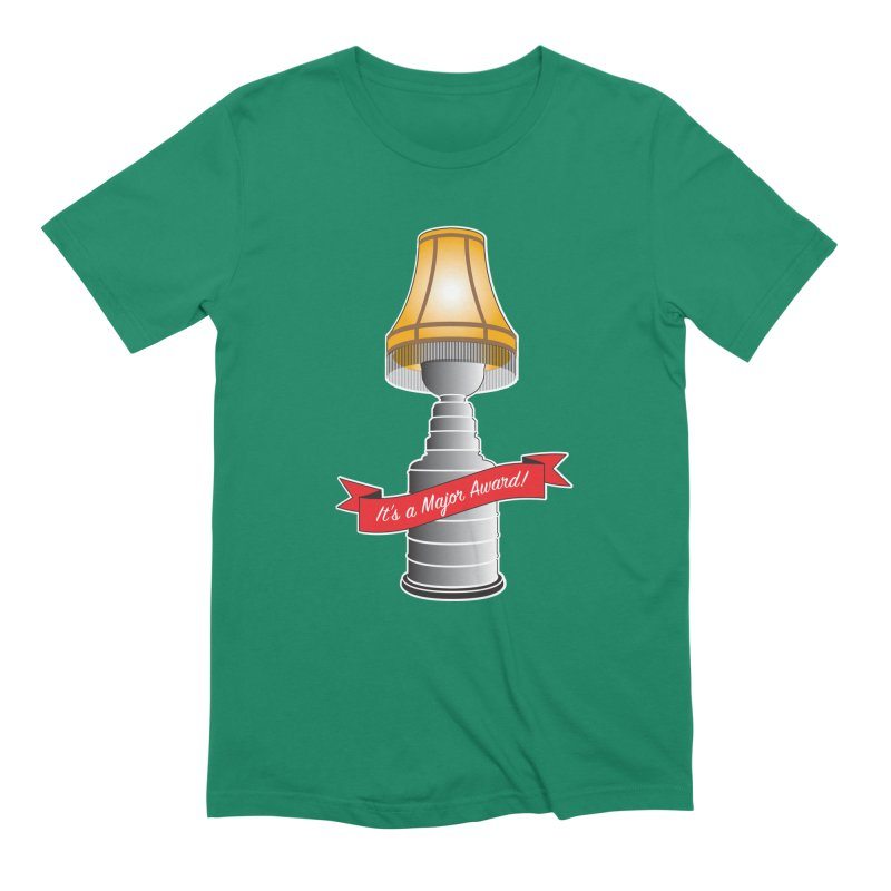 Lamp Award in Men's Extra Soft T-Shirt Evergreen by Brian Harms
