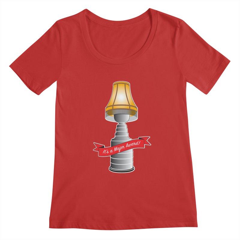 Lamp Award Women's Regular Scoop Neck by Brian Harms