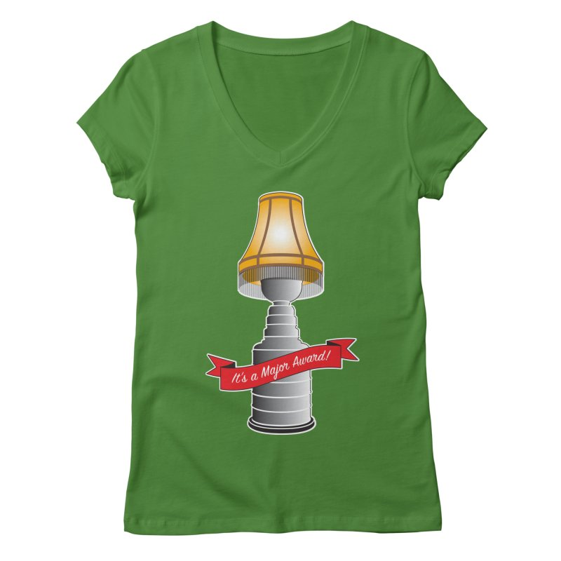 Lamp Award Women's Regular V-Neck by Brian Harms