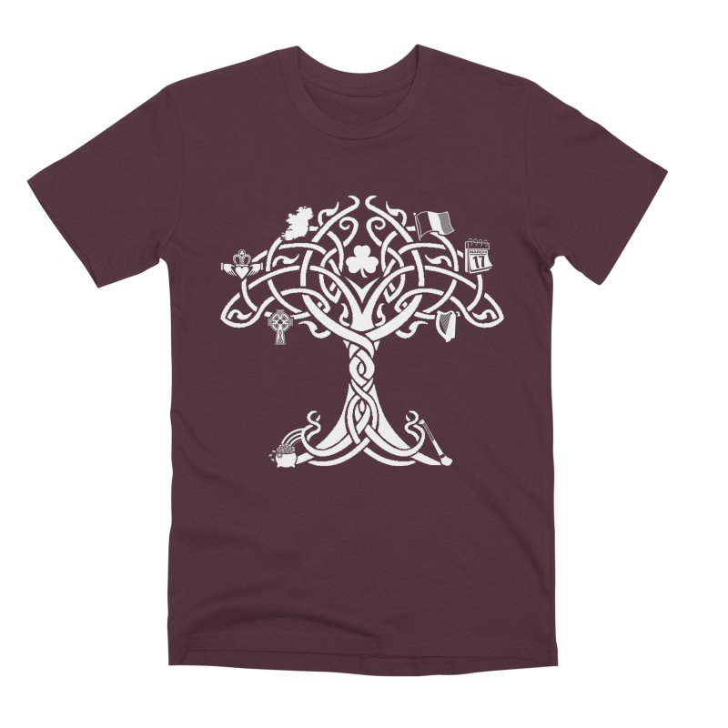 Irish Tree of Life Men's Premium T-Shirt by Brian Harms