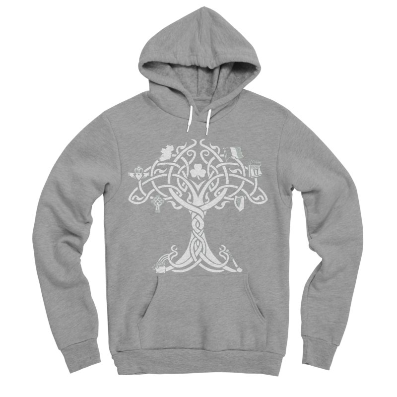 Irish Tree of Life Men's Sponge Fleece Pullover Hoody by Brian Harms