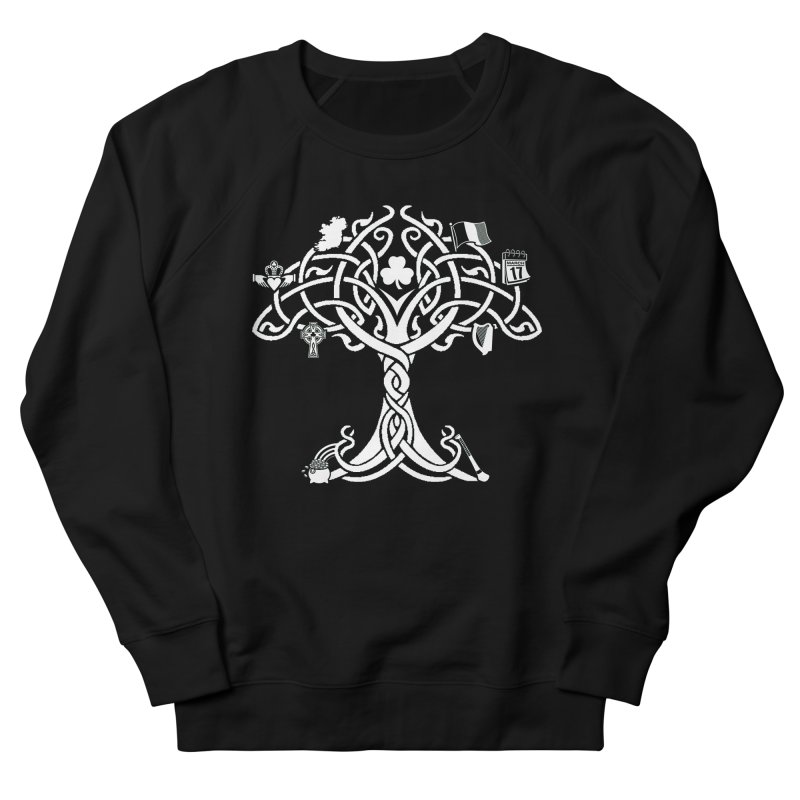 Irish Tree of Life Men's French Terry Sweatshirt by Brian Harms