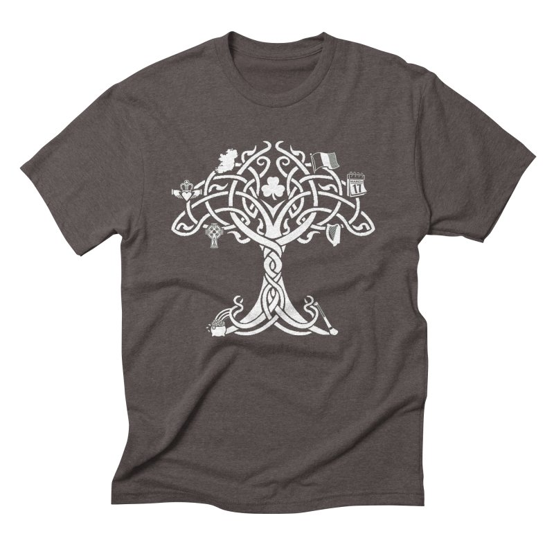 Irish Tree of Life Men's Triblend T-Shirt by Brian Harms