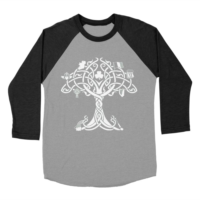 Irish Tree of Life Women's Baseball Triblend Longsleeve T-Shirt by Brian Harms