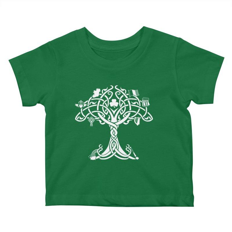 Irish Tree of Life Kids Baby T-Shirt by Brian Harms