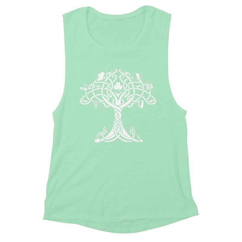 Irish Tree of Life Women's Muscle Tank by Brian Harms