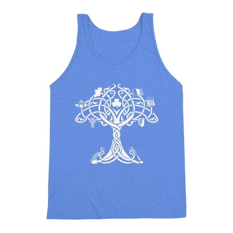 Irish Tree of Life Men's Triblend Tank by Brian Harms