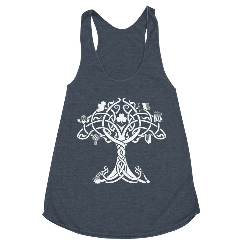 Irish Tree of Life Women's Racerback Triblend Tank by Brian Harms