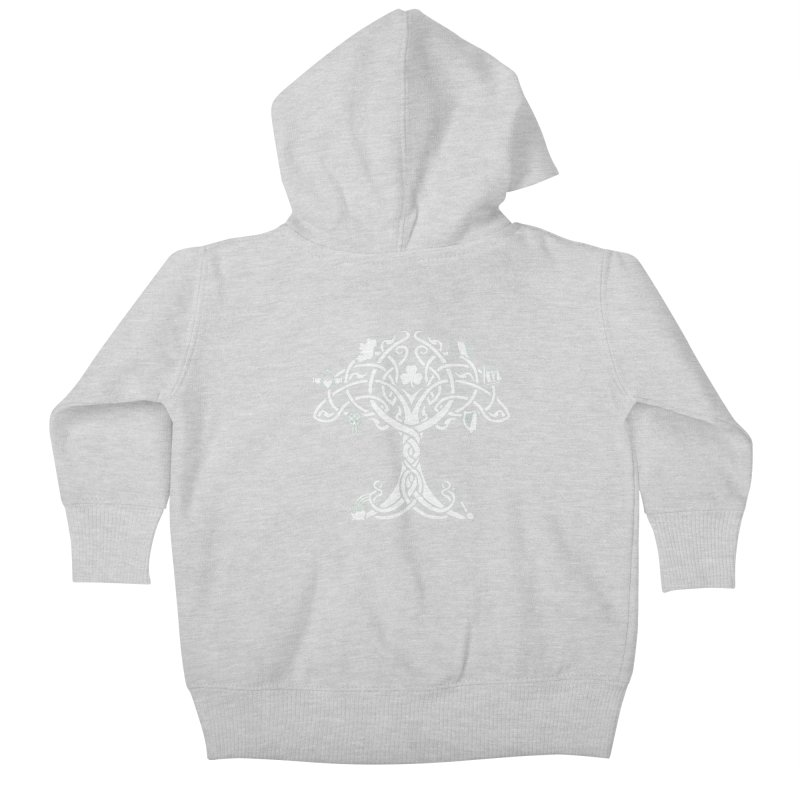 Irish Tree of Life Kids Baby Zip-Up Hoody by Brian Harms