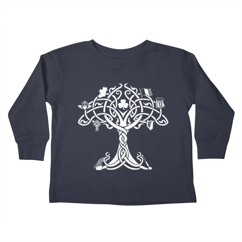 Irish Tree of Life Kids Toddler Longsleeve T-Shirt by Brian Harms