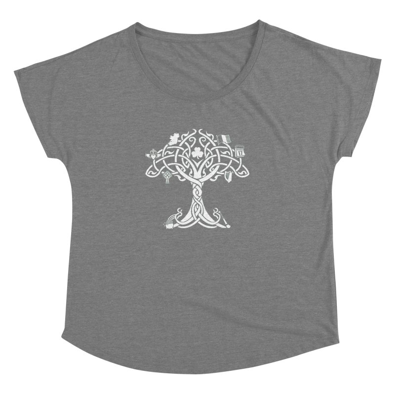 Irish Tree of Life Women's Dolman Scoop Neck by Brian Harms