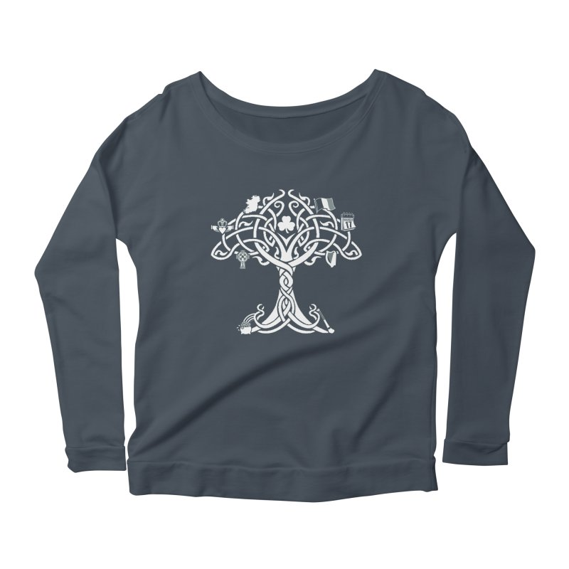 Irish Tree of Life Women's Scoop Neck Longsleeve T-Shirt by Brian Harms