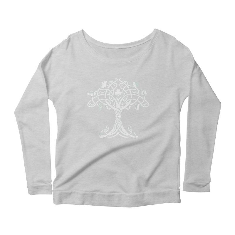 Irish Tree of Life Women's Scoop Neck Longsleeve T-Shirt by Brian Harms