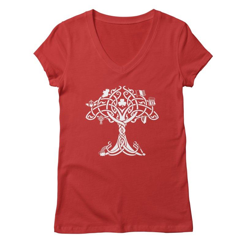 Irish Tree of Life Women's Regular V-Neck by Brian Harms