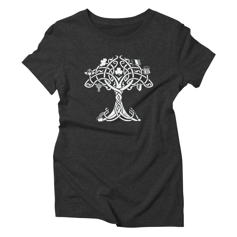Irish Tree of Life Women's Triblend T-Shirt by Brian Harms