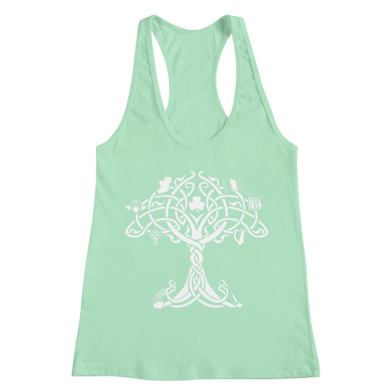 Irish Tree of Life Women's Racerback Tank by Brian Harms
