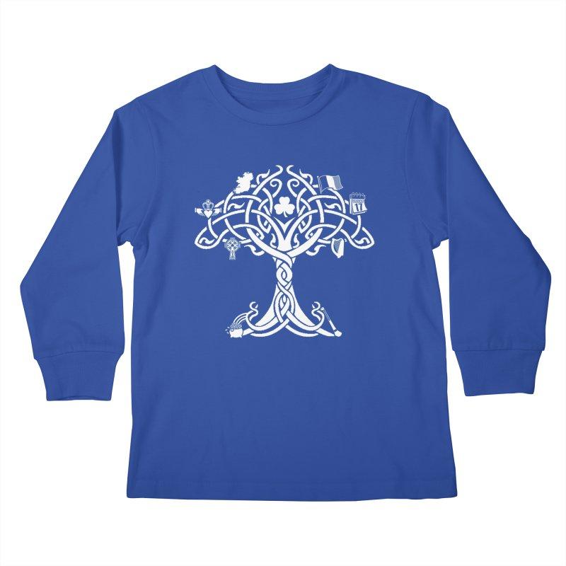 Irish Tree of Life Kids Longsleeve T-Shirt by Brian Harms