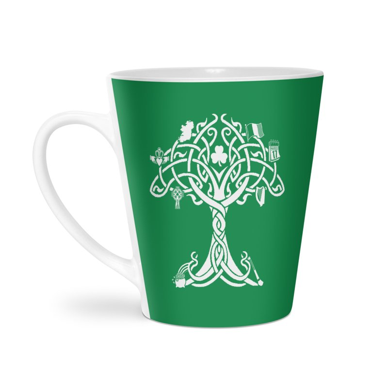 Irish Tree of Life Accessories Latte Mug by Brian Harms