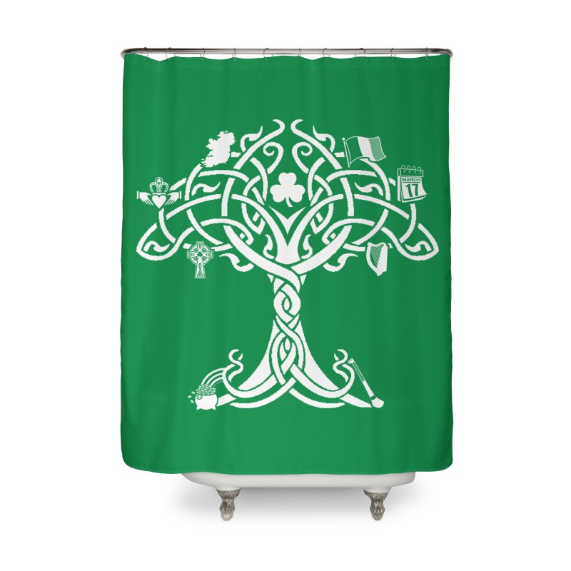 Irish Tree of Life Home Shower Curtain by Brian Harms
