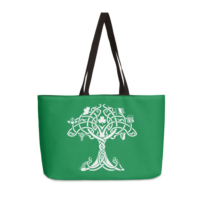 Irish Tree of Life Accessories Weekender Bag Bag by Brian Harms