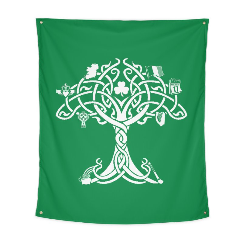 Irish Tree of Life Home Tapestry by Brian Harms