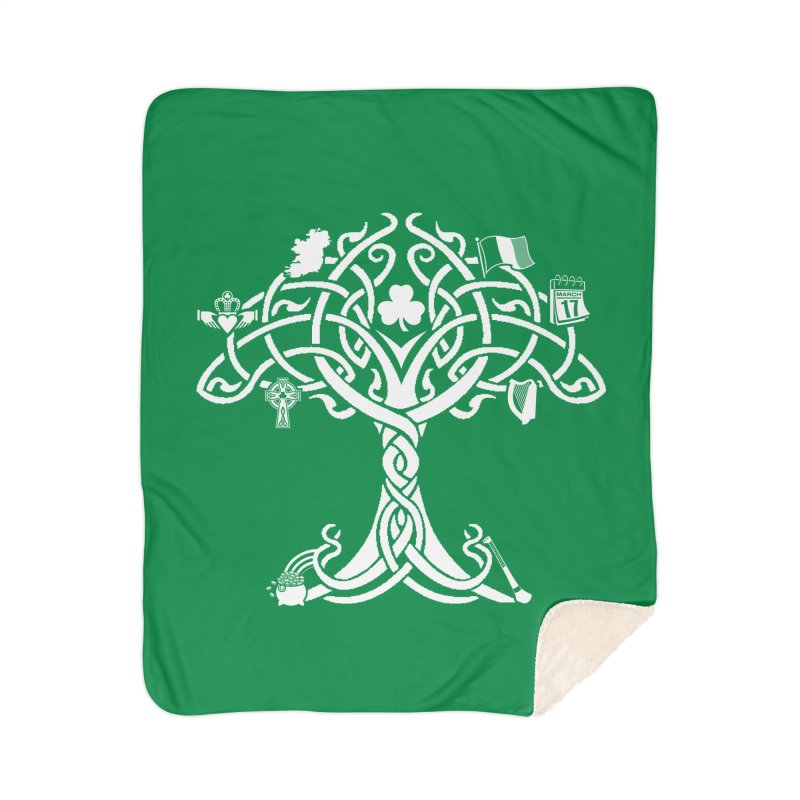 Irish Tree of Life Home Sherpa Blanket Blanket by Brian Harms