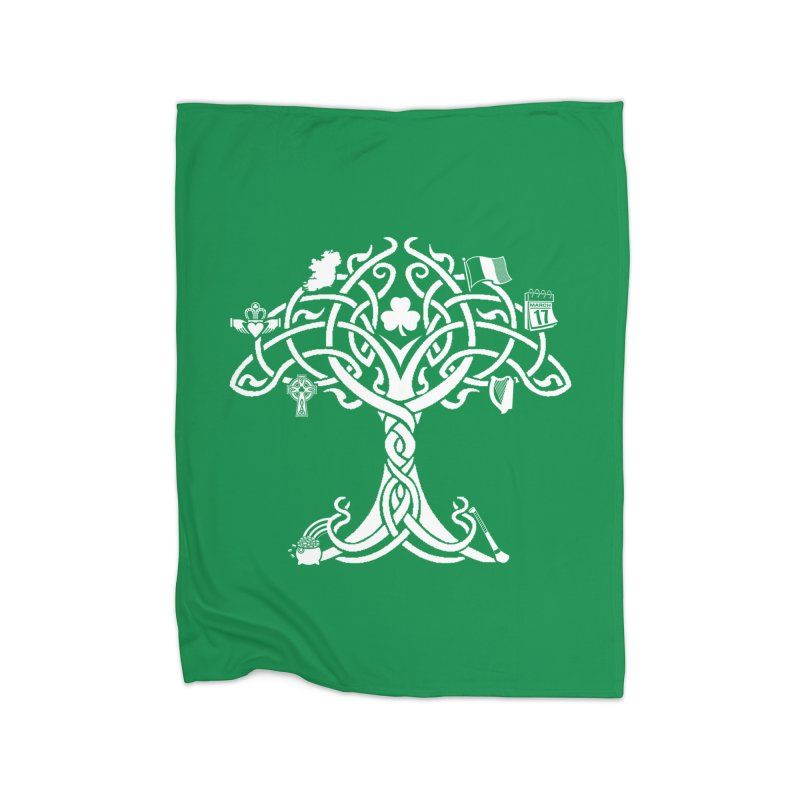 Irish Tree of Life Home Fleece Blanket Blanket by Brian Harms