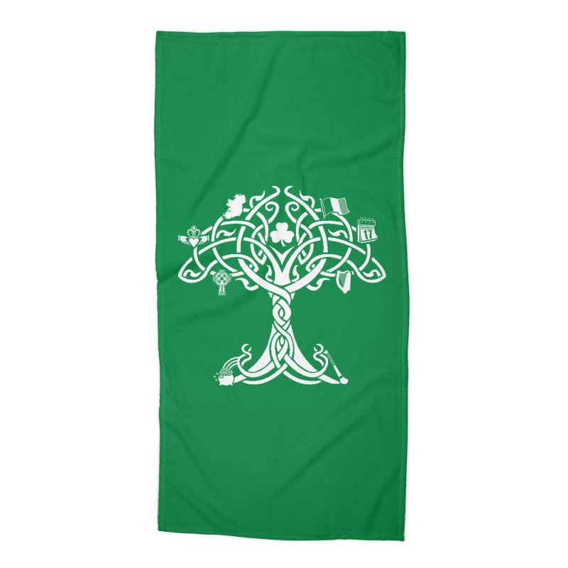 Irish Tree of Life Accessories Beach Towel by Brian Harms