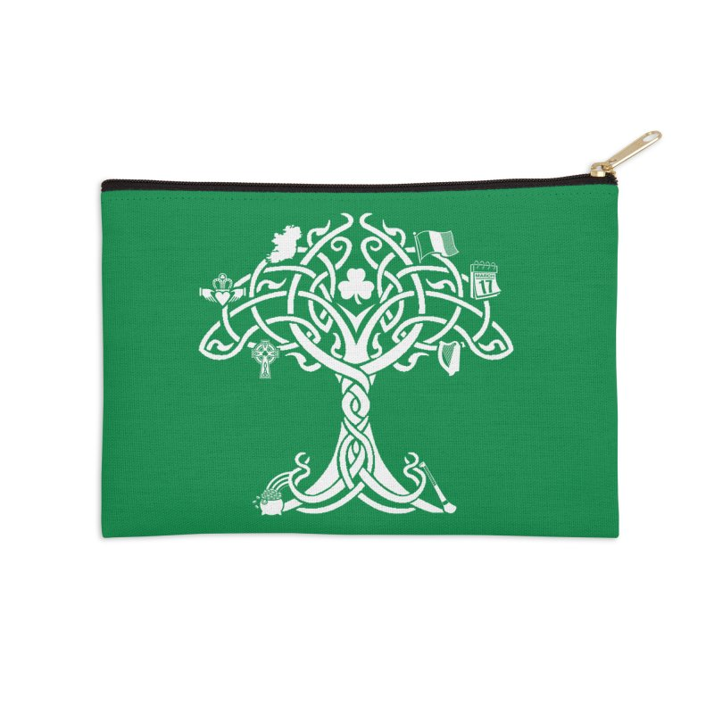 Irish Tree of Life Accessories Zip Pouch by Brian Harms