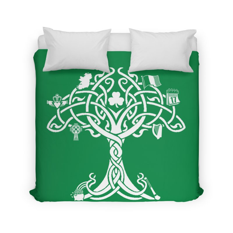 Irish Tree of Life Home Duvet by Brian Harms