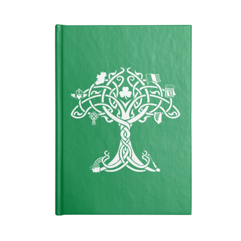 Irish Tree of Life Accessories Lined Journal Notebook by Brian Harms