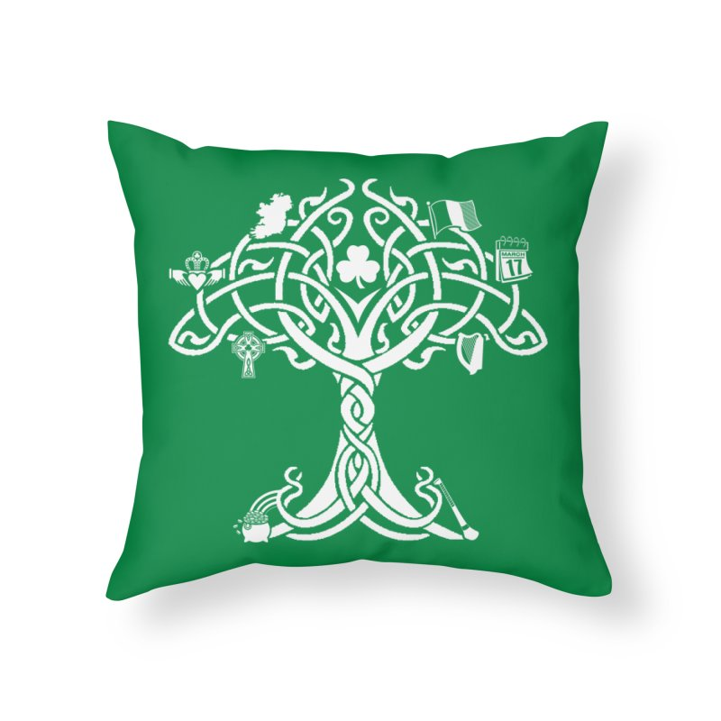 Irish Tree of Life Home Throw Pillow by Brian Harms