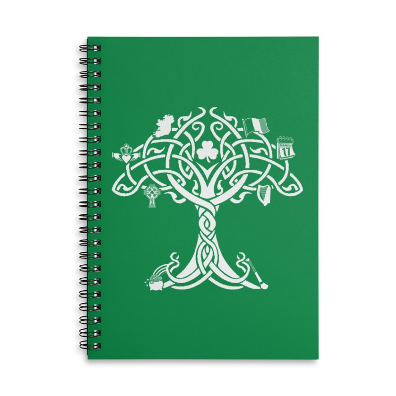Irish Tree of Life Accessories Lined Spiral Notebook by Brian Harms