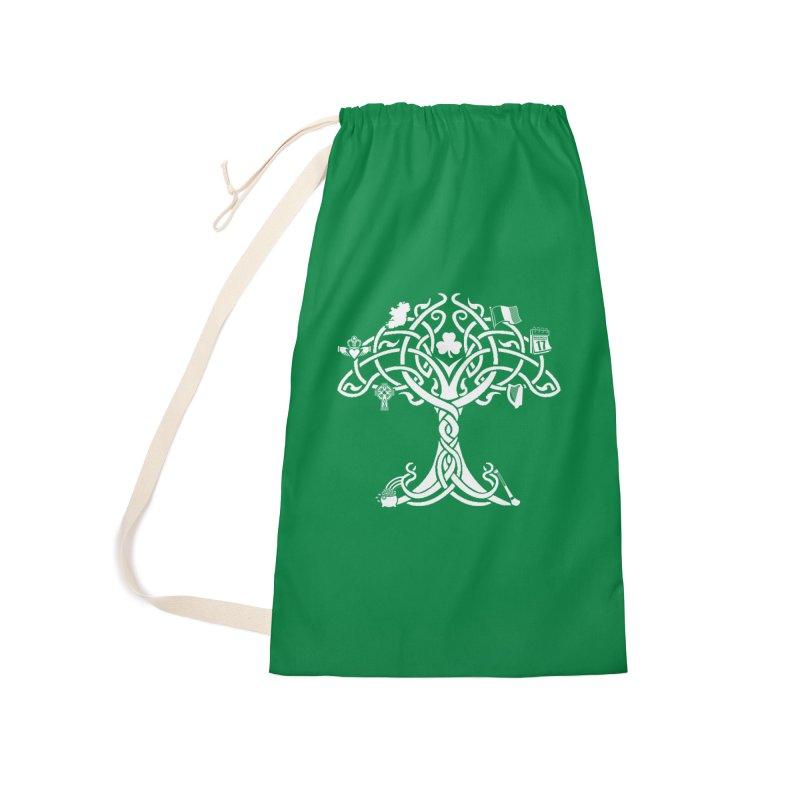 Irish Tree of Life Accessories Laundry Bag Bag by Brian Harms