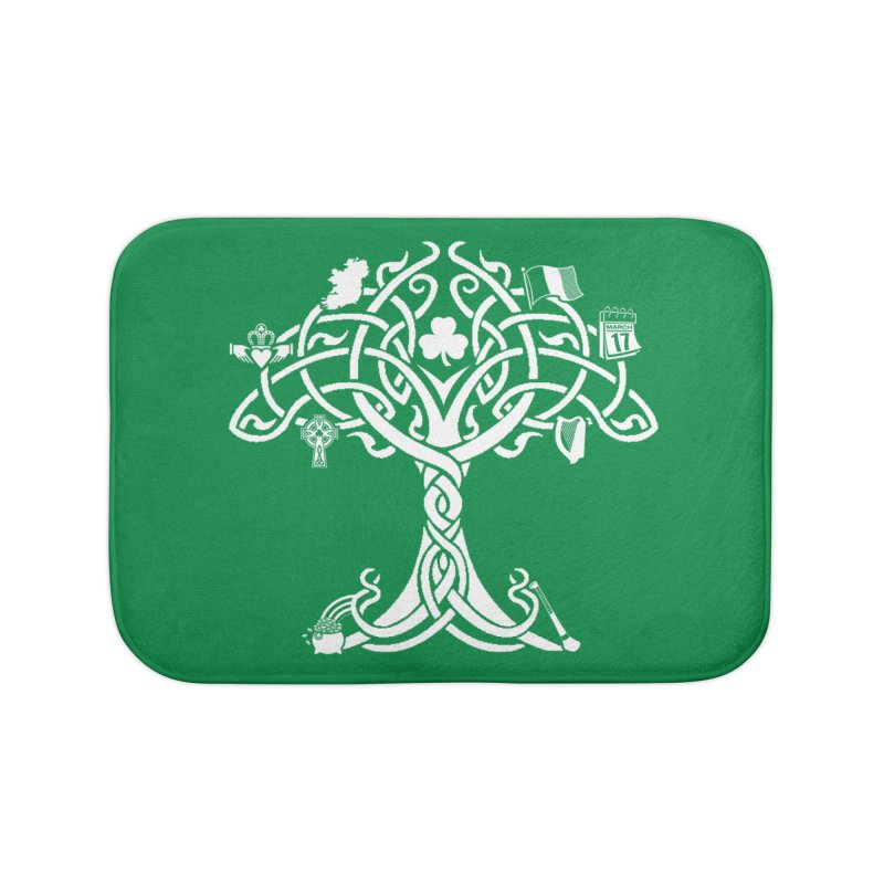 Irish Tree of Life Home Bath Mat by Brian Harms