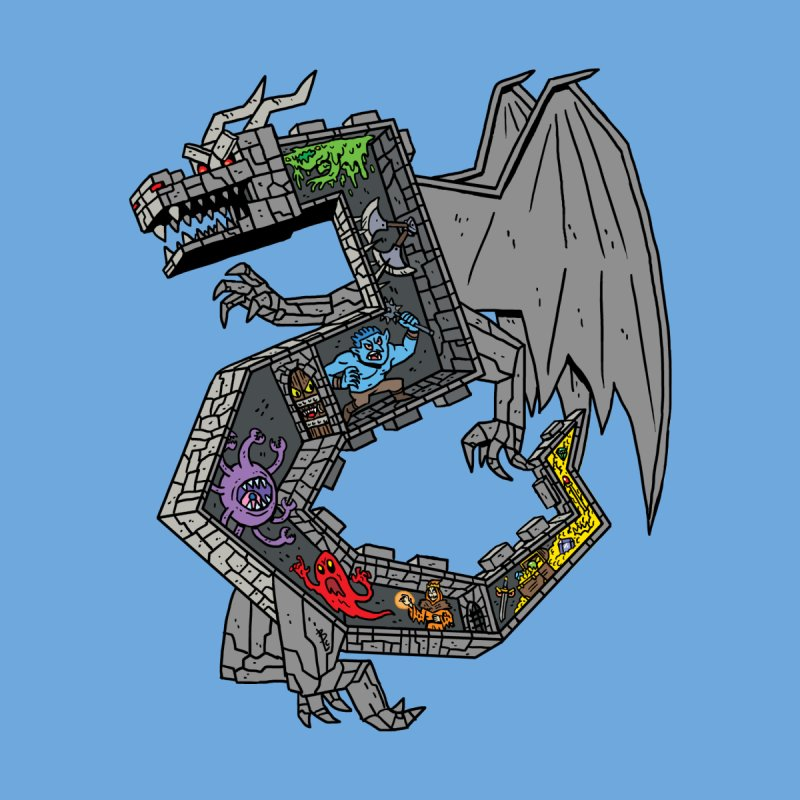 Dungeon Dragon Men's T-Shirt by brianmcl's Artist Shop