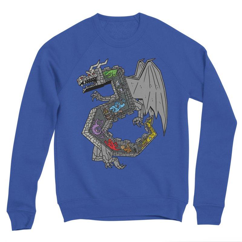 Dungeon Dragon Men's Sweatshirt by brianmcl's Artist Shop
