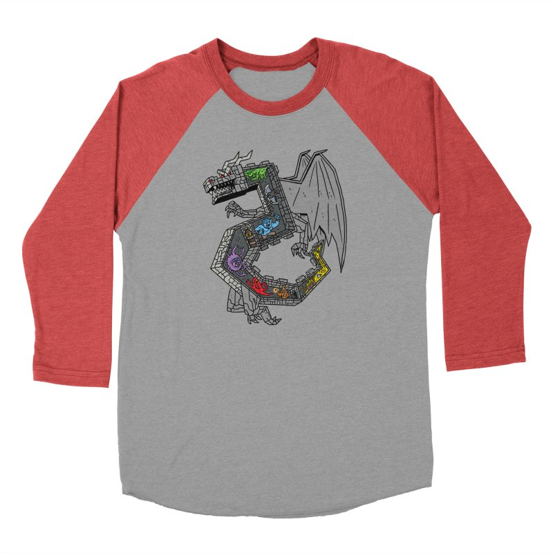 Dungeon Dragon Men's Longsleeve T-Shirt by brianmcl's Artist Shop