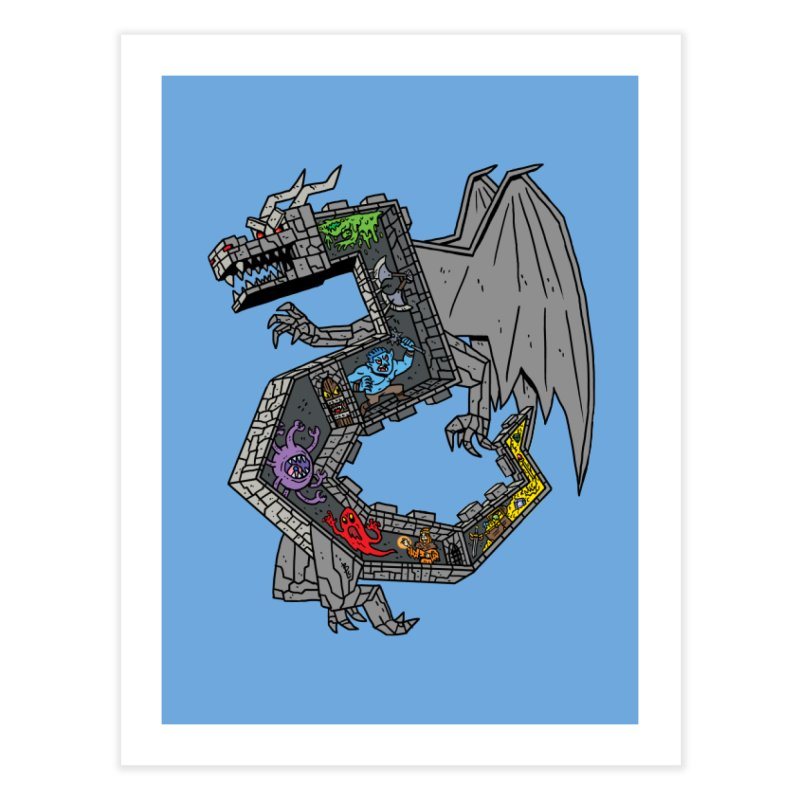 Dungeon Dragon Home Fine Art Print by brianmcl's Artist Shop