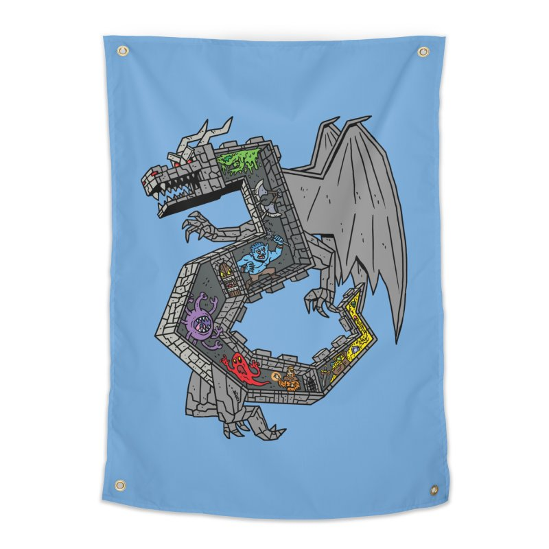 Dungeon Dragon Home Tapestry by brianmcl's Artist Shop