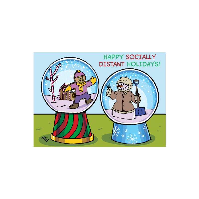 Happy Socially Distant Holidays! Accessories Greeting Card by brianmcl's Artist Shop