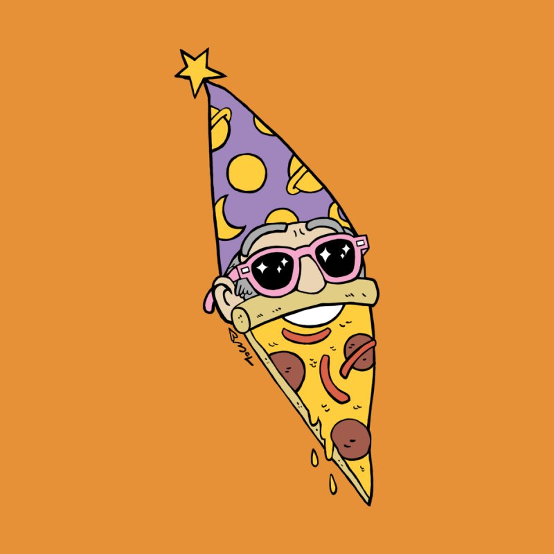 Pizza Wizard Women's T-Shirt by brianmcl's Artist Shop