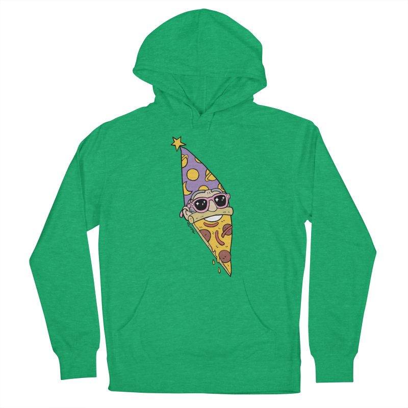 Pizza Wizard Men's French Terry Pullover Hoody by brianmcl's Artist Shop